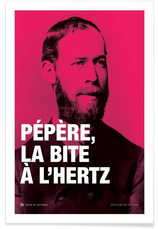 Grappig, Hertz poster