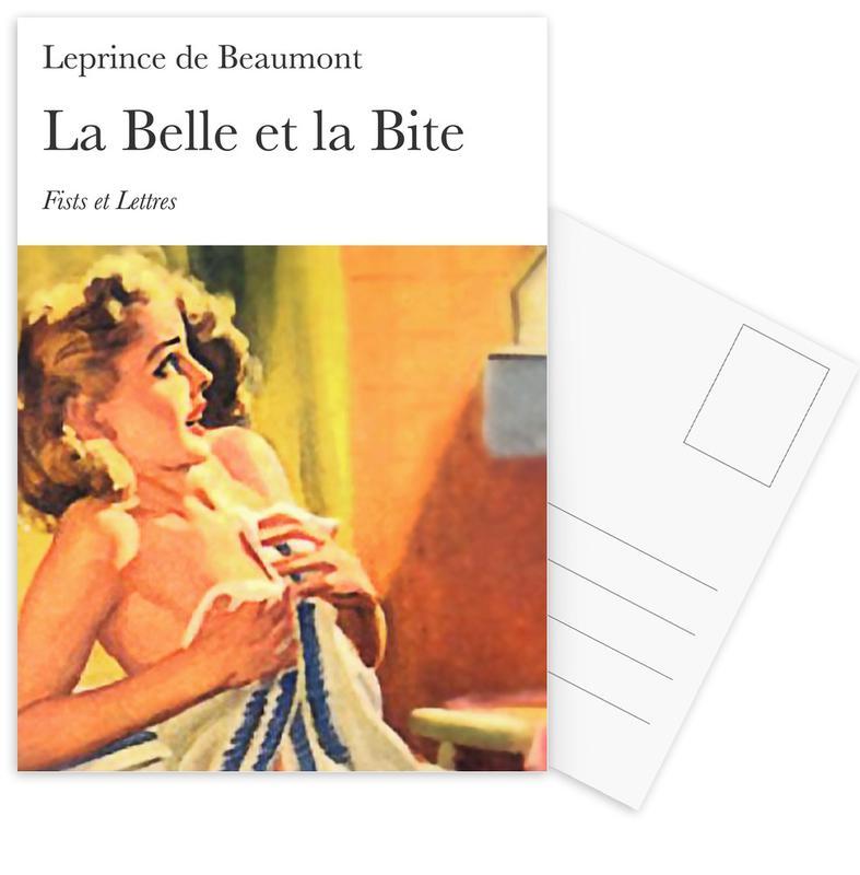 Grappig, La Belle Et La Bite ansichtkaartenset