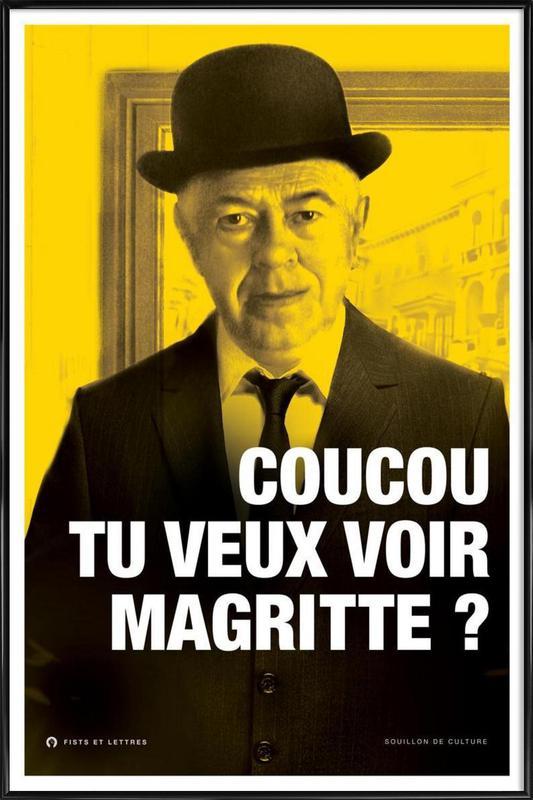 Magritte affiche encadrée