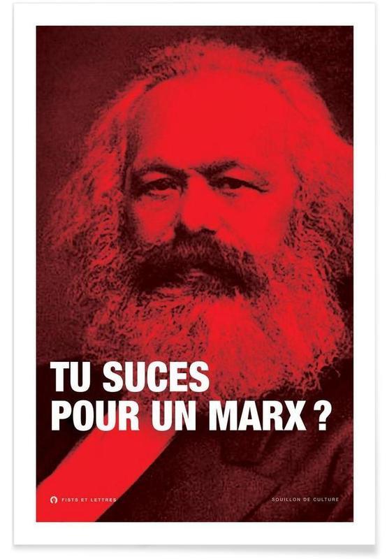 Quotes en slogans, Grappig, Politieke figuren, Marx poster