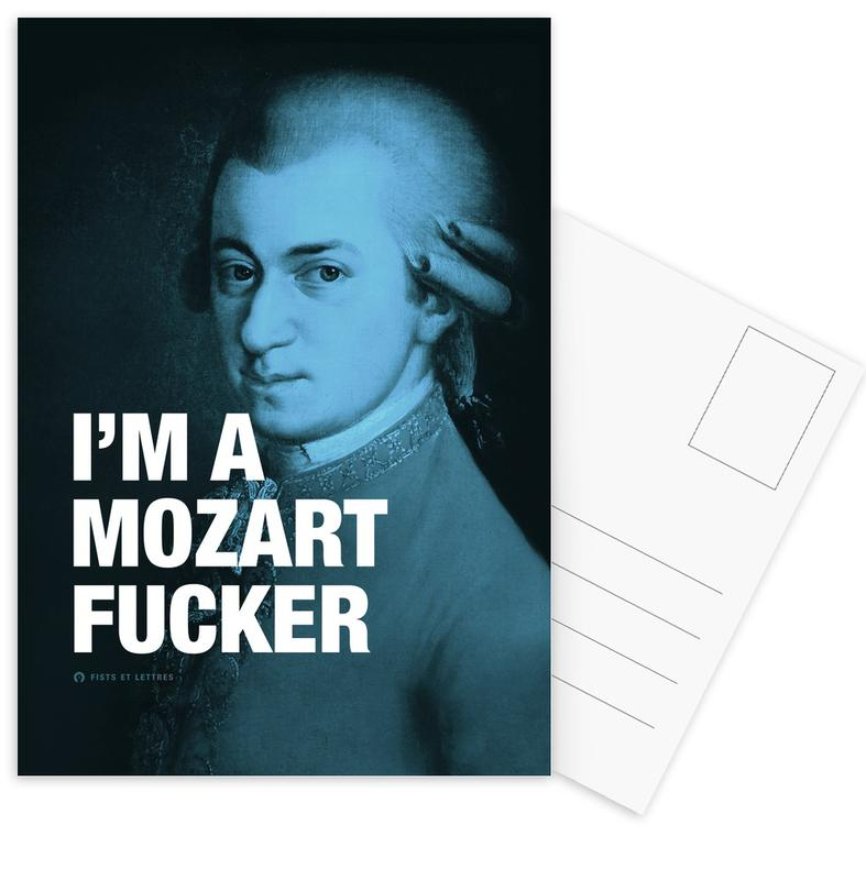 Grappig, Quotes en slogans, Mozart ansichtkaartenset