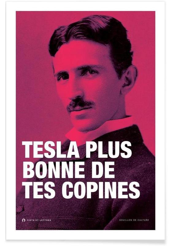 Grappig, Tesla poster