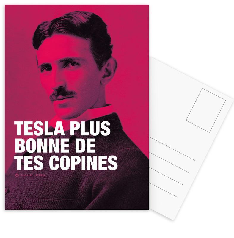 Grappig, Tesla ansichtkaartenset