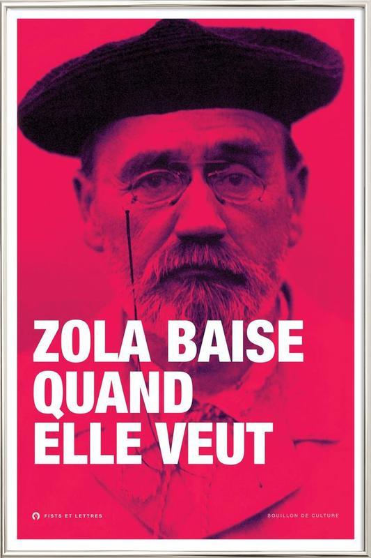 Zola -Poster im Alurahmen