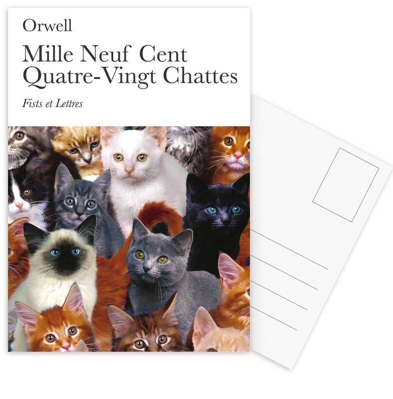 Katten, Grappig, 1980 - Chattes ansichtkaartenset