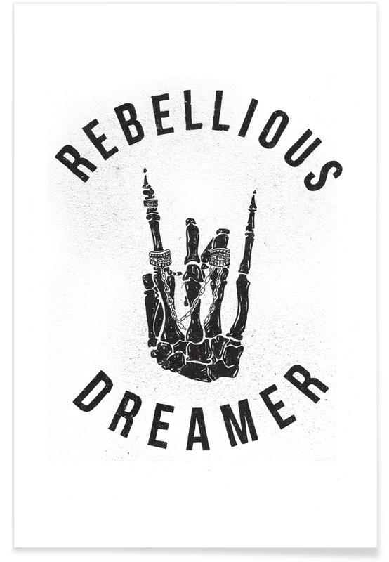 Black & White, Rebellious Dreamer Poster