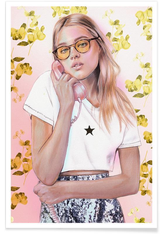 Portraits, Springtime Girl Poster