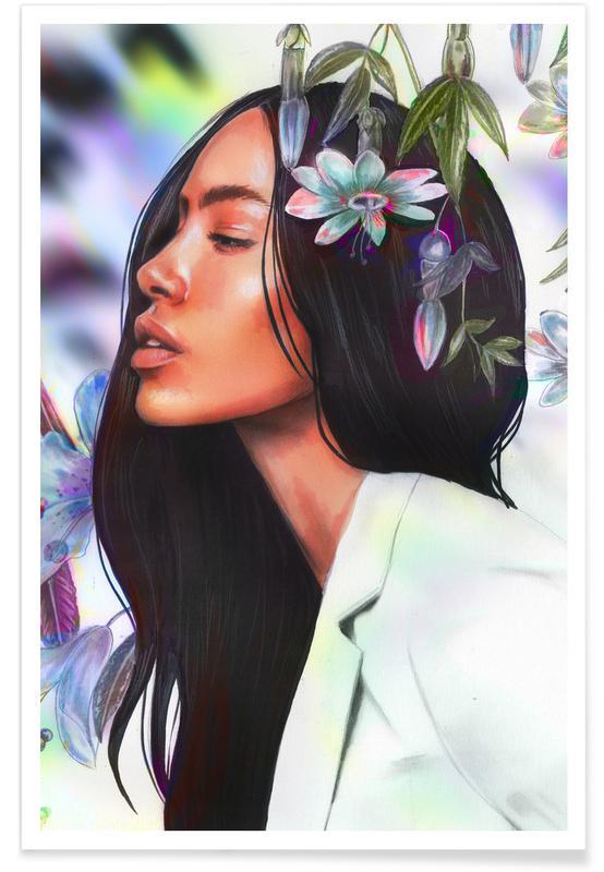 Portraits, Illustrations de mode, Tropicale affiche