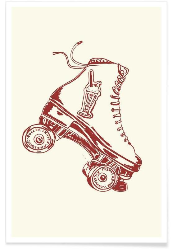 Roller Skates & Milk Shakes Poster