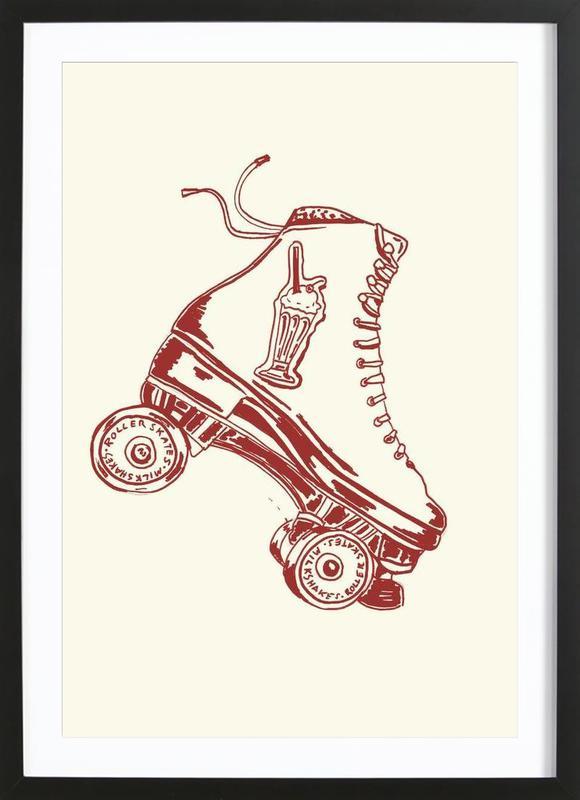 Roller Skates & Milk Shakes Framed Print