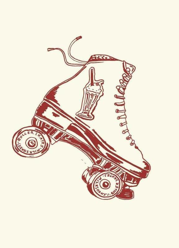 Roller Skates & Milk Shakes -Leinwandbild