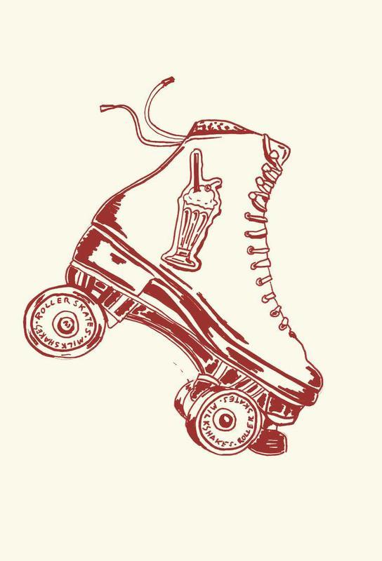 Roller Skates & Milk Shakes -Acrylglasbild