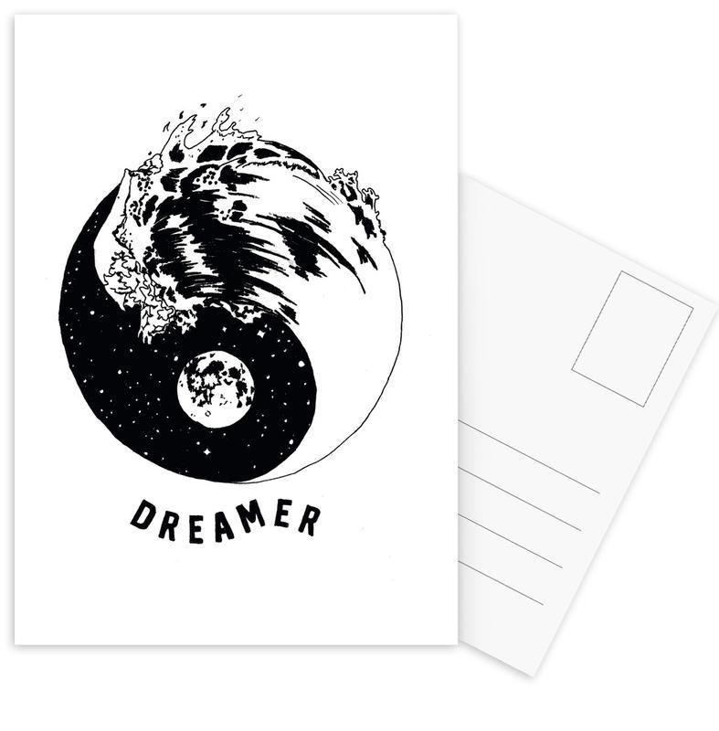 Motivational, Symbols, Dreamer Postcard Set