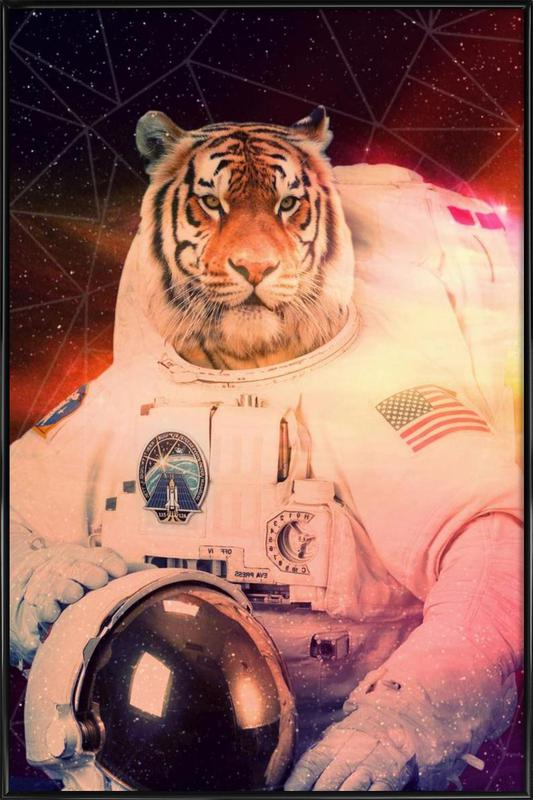 Astrotiger -Bild mit Kunststoffrahmen