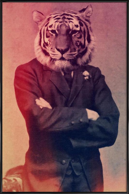 Old Timey Tiger Framed Poster
