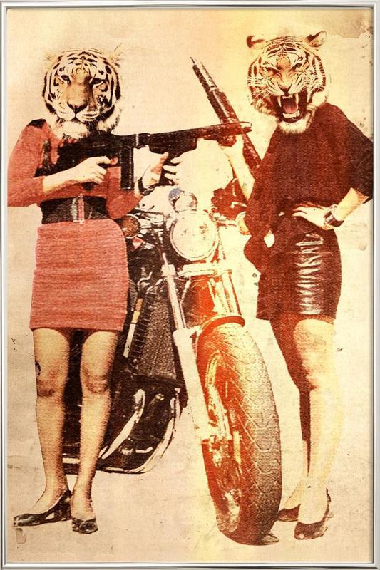 Tiger Girls Poster in Aluminium Frame