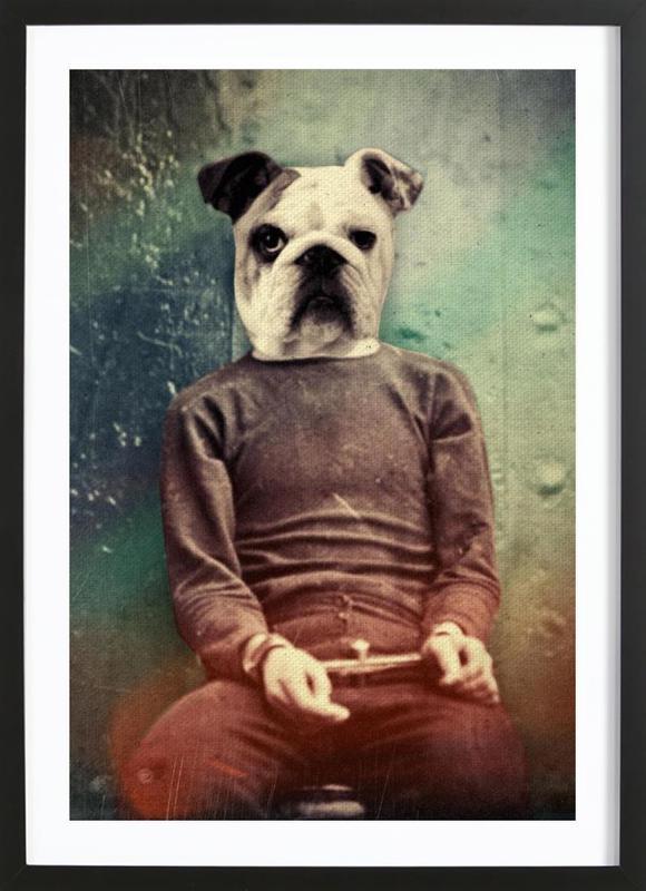 Bad Dog ingelijste print