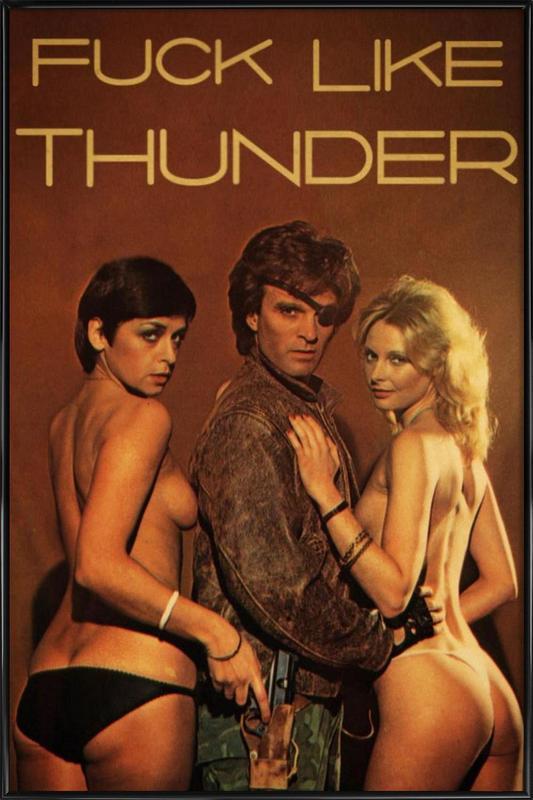 Like Thunder -Bild mit Kunststoffrahmen