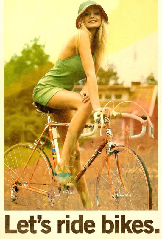 Let's Ride Bikes acrylglas print