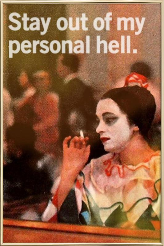 My Personal Hell -Poster im Alurahmen