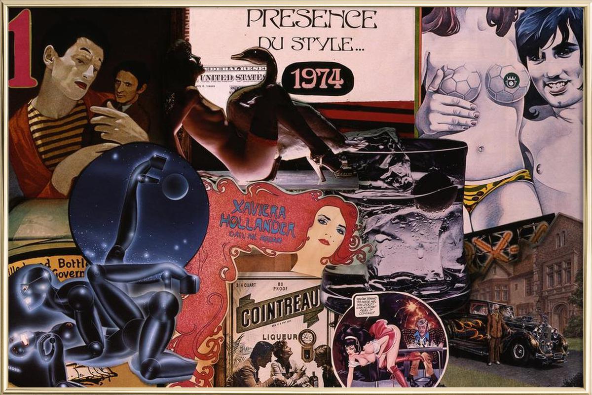 1974, 1974 poster in aluminium lijst