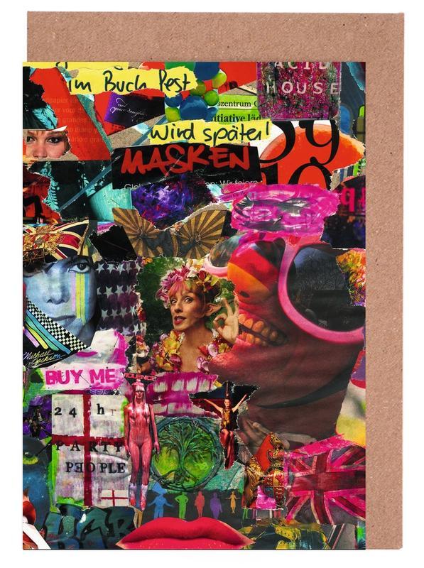 Pop Art, Street Art, Maskerade, 2011 cartes de vœux