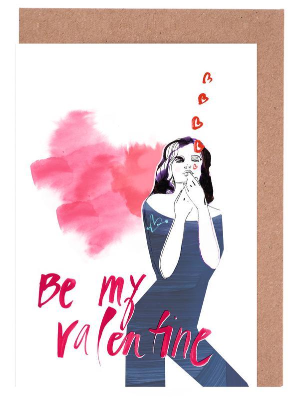 Citations d'amour, Saint-Valentin, Be My Valentine 2 cartes de vœux