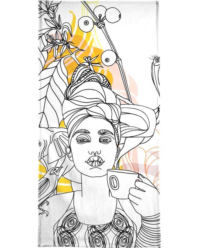 , Coffe Break - Queens & Dandies serviette de plage
