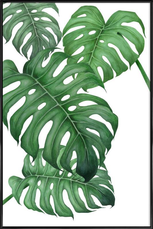 Tropical No.2 -Bild mit Kunststoffrahmen