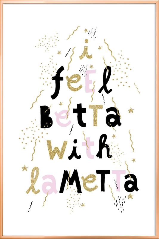 Betta Lametta Poster in Aluminium Frame
