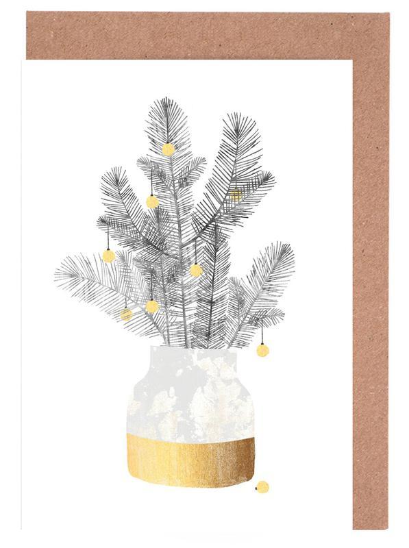 Weihnachten, Blätter & Pflanzen, Urban Christmas No. 2 -Grußkarten-Set