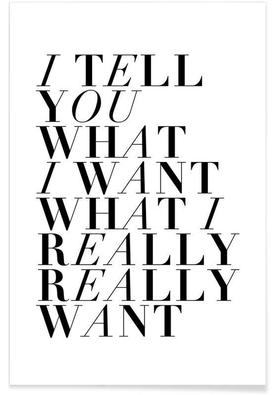 Black & White, Lyrics, I Tell You Poster
