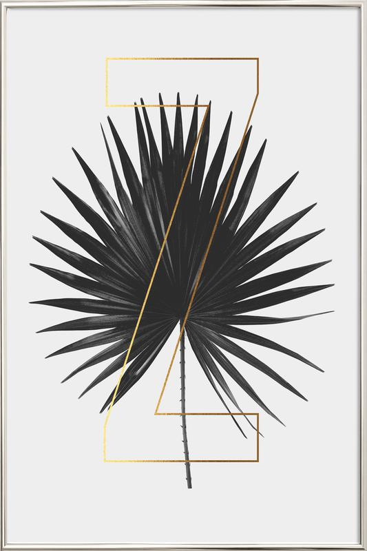 Plants Z Poster in Aluminium Frame