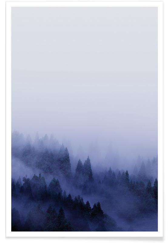 Forêts, Ciels & nuages, Bluescape 2 affiche
