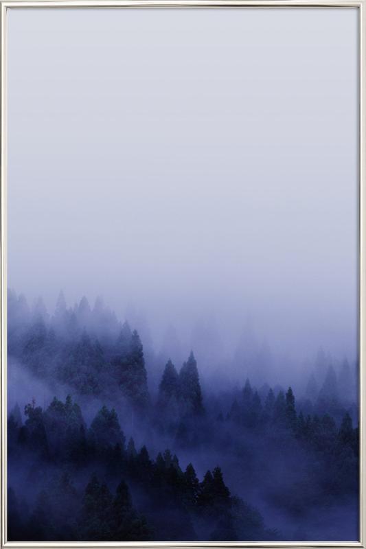 Bluescape 2 Poster in Aluminium Frame