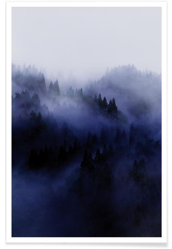 Forêts, Ciels & nuages, Bluescape 3 affiche