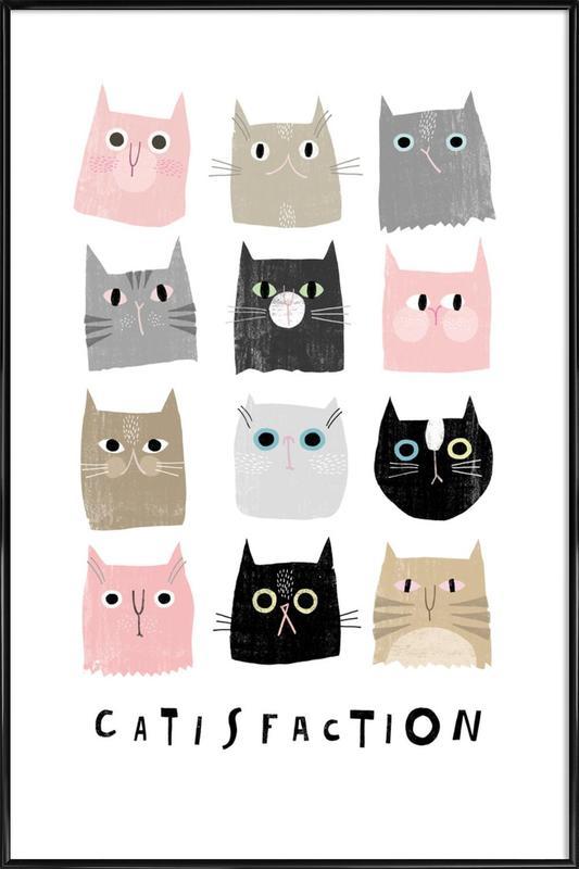 Catisfaction 1 ingelijste poster