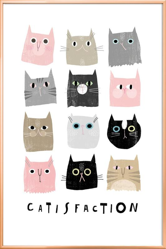 Catisfaction 1 Poster in Aluminium Frame