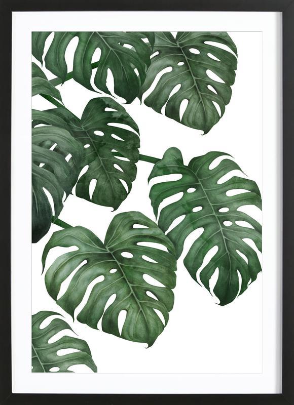Tropical No. 6 -Bild mit Holzrahmen