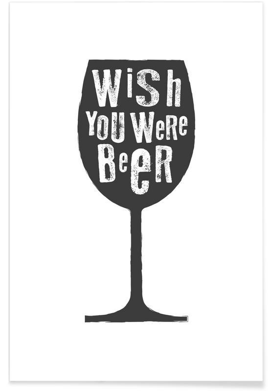 Zwart en wit, Bier, Grappig, Felicitaties, Beer poster
