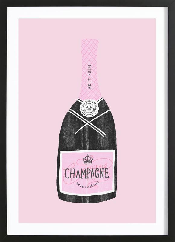 Champagne ingelijste print