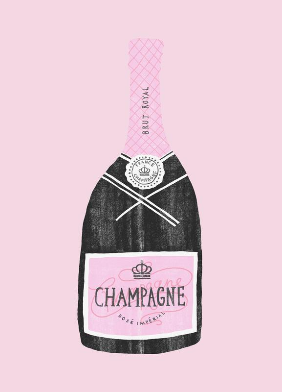 Champagne -Leinwandbild