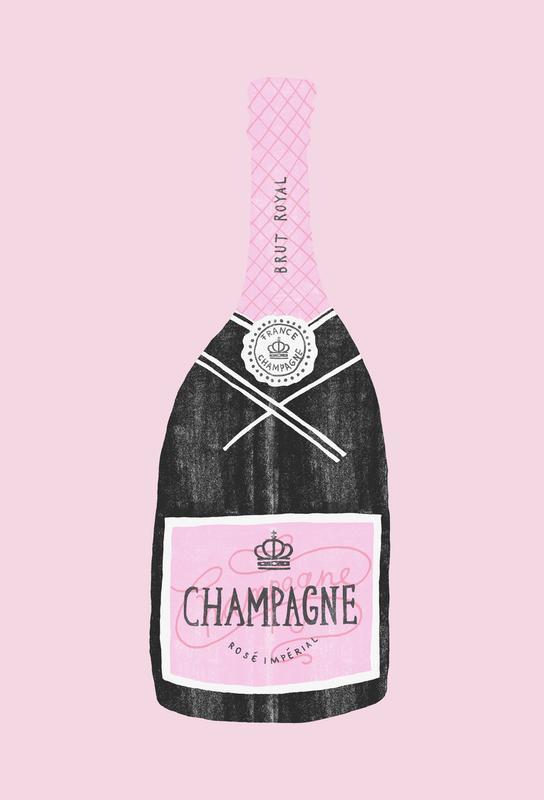 Champagne Aluminium Print