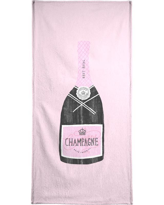 Hochzeiten, Glückwünsche, Wein, Geburtstage, Champagne -Strandtuch