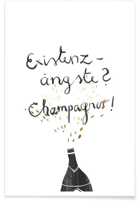 Zitate & Slogans, Schwarz & Weiß, Lustig, Existenzängste -Poster