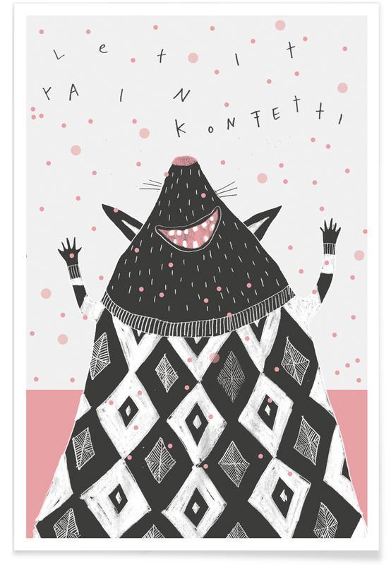 Geburtstage, Glückwünsche, Halbwildtier Konfetti -Poster