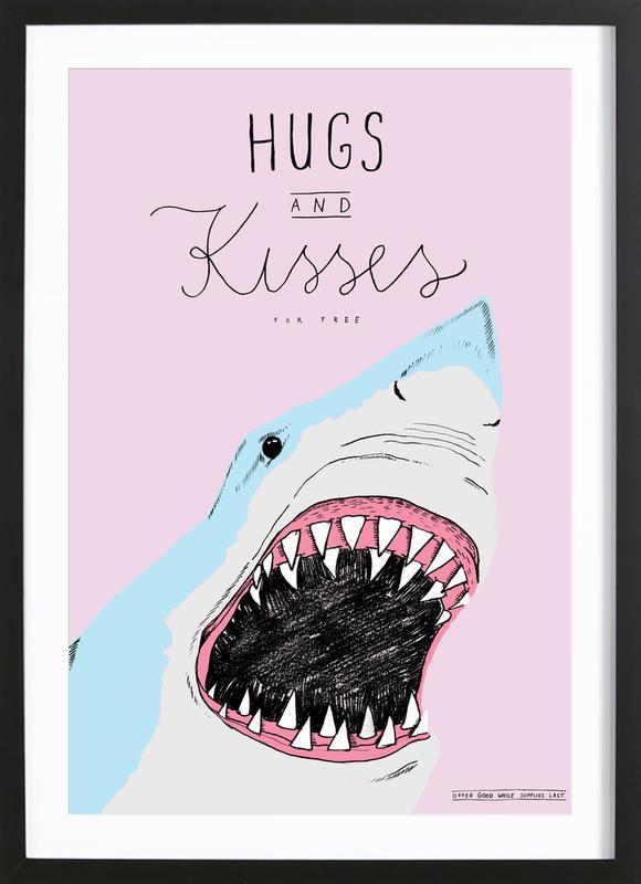 Hugs and Kisses ingelijste print