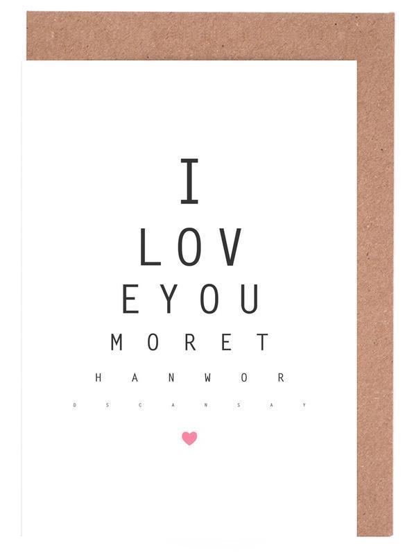 Liebeszitate, Liebe & Jahrestage, Valentinstag, Zitate & Slogans, Love No.3 -Grußkarten-Set
