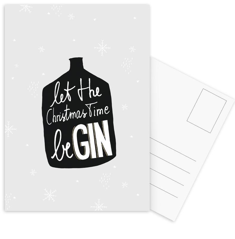 Christmas, Cocktails, Black & White, BeGIN Postcard Set