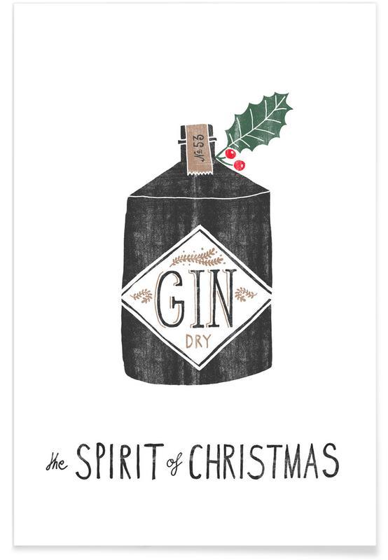 Noël, Cocktails, Spirit of Christmas No. 2 affiche